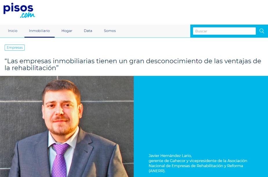 Entrevista Javier Hernández Lario para el portal pisos con foto