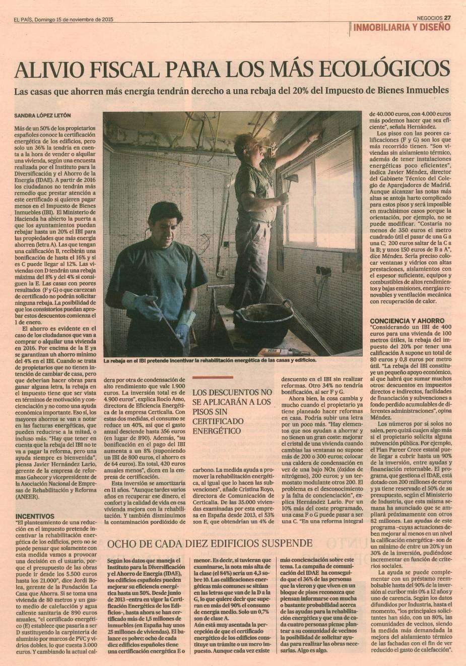 El País Domingo 15 de Noviembre