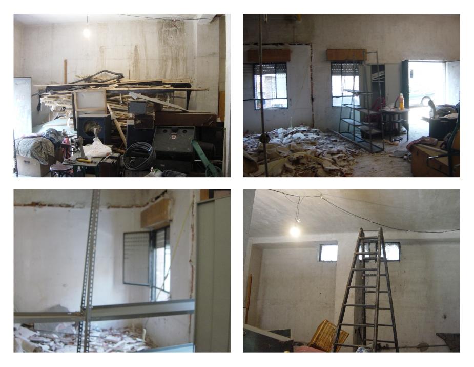 Estado inicial Reforma de Local conversión a vivienda por Gahecor en Madrid