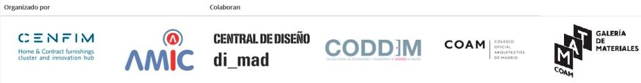 logos Cenfim Amic Central de Diseño Coddim Coam y Galería de MAteriales organizadores y colaboradores de Interihotel Madrid.jpg