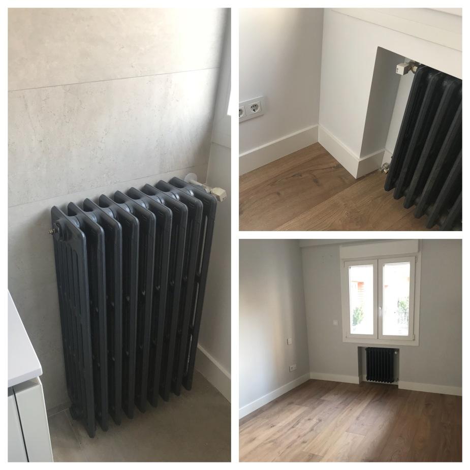 radiadores restaurados radiadores de hierro fundido pintados en reforma integral de vivienda de Gahecor.JPG