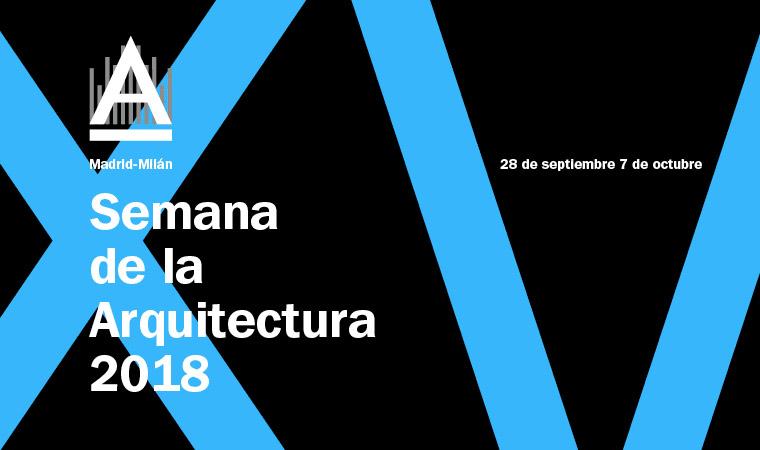 Logo Semana de la Arquitectura COAM 2018 MAdrid